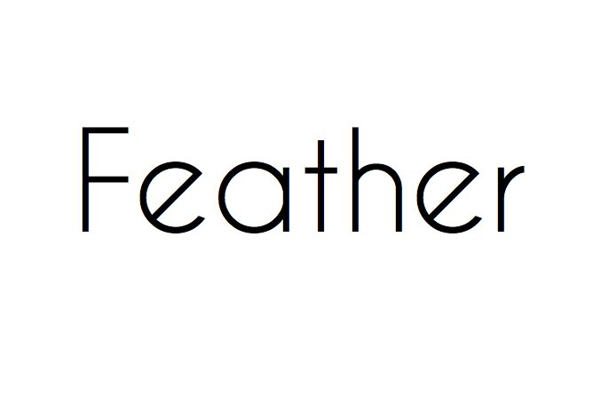 Feather template logo